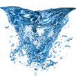 Water splash with bubbles - Stock Photo