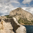 Stairs in the rock in crimea - Stock Photo