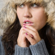 Young woman freeze — Stock Photo