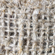 Macro of burlap texture — Stock Photo