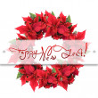 Christmas wreath from poinsettia — Stock Photo #3379871