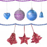 Christmas balls and decoration — Stock Photo