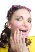 Ritratto di una donna bella sorpresa — Foto Stock