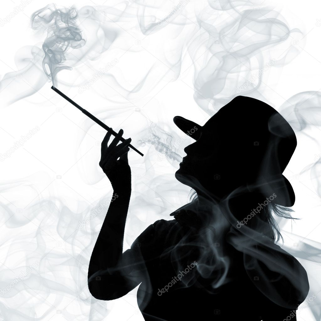 silhouette de femme qui fume photographie artjazz 3378988. Black Bedroom Furniture Sets. Home Design Ideas
