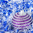 Pink christmas ball with decoration - Stock Photo