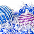 Pink and blue christmas balls with decoration — Foto Stock