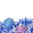 Christmas balls with decoration - Stock Photo