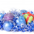 Christmas balls with decoration — Stock Photo #3380127