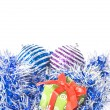 Christmas balls with decoration — Stockfoto