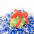 Christmas gift with decoration — Stock Photo
