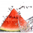 Watermelon and water splash — Foto de Stock