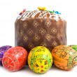 Easter eggs and cake — Foto de Stock