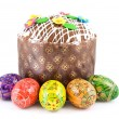 Easter eggs and cake — Stock Photo #3381417