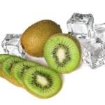 Kiwi with ice cubes — Stock Photo #3381443