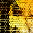 Abstract yellow grunge background from squares - Stock Photo