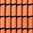 Royalty-Free Stock Photo: Close-up orange tile on roof in carpathians castle
