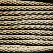 Metal rope texture - Stock Photo