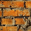 Grunge old bricks wall texture — Stok fotoğraf