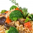 Stock Photo: Macro of risotto with vegetables