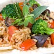 Macro of risotto with vegetables — Stock Photo #3385090