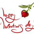 Greetings for valentine's day and heart of rose — 图库照片