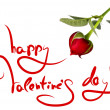 图库照片: Greetings for valentine's day and heart of rose