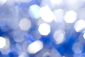 Blue christmas light background — Stock Photo