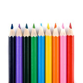Macro color pencils — Stock Photo