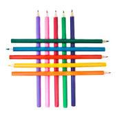 решетка из цветных карандашей — Стоковое фото