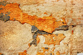 Texture of the old stucco wall with cracks — Stock Photo