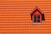 Orange roof tile in carpathians castle — Stock Photo