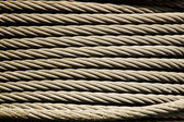 Metal rope texture — Stock Photo