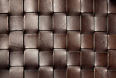 Squared dark brown leather texture — Stock Photo