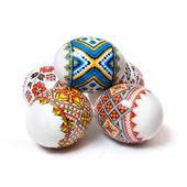 Easter eggs on white — Stock Photo