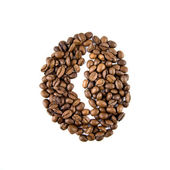 Coffee bean isolated on white — Stock Photo