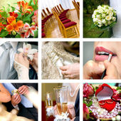 Color wedding photos — Foto de Stock