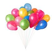 彩色的气球上白色隔离 — 图库照片