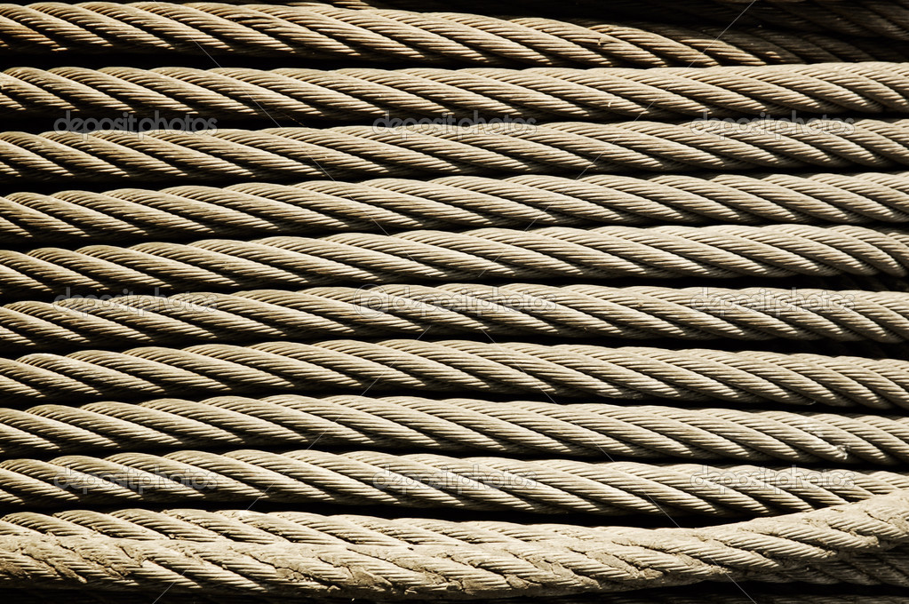 Metal rope texture — Stock Photo #3384509