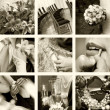 Wedding photos in sepia — Stock Photo