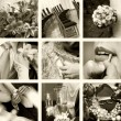 Wedding photos in sepia — Stock Photo #3422623