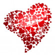 Red heart for valentine's day — Stock Photo