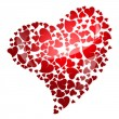 Red heart for valentine's day - Stock Photo