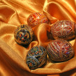 Easter eggs on satin - Lizenzfreies Foto