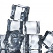 Ice cubes isolated on white - Foto de Stock
