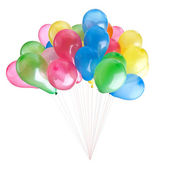 Color balloons isolated on white — Stock Photo