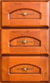 Drie houten laden — Stockfoto