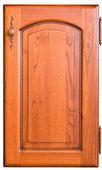 Wooden furniture door with handle — Stock Photo
