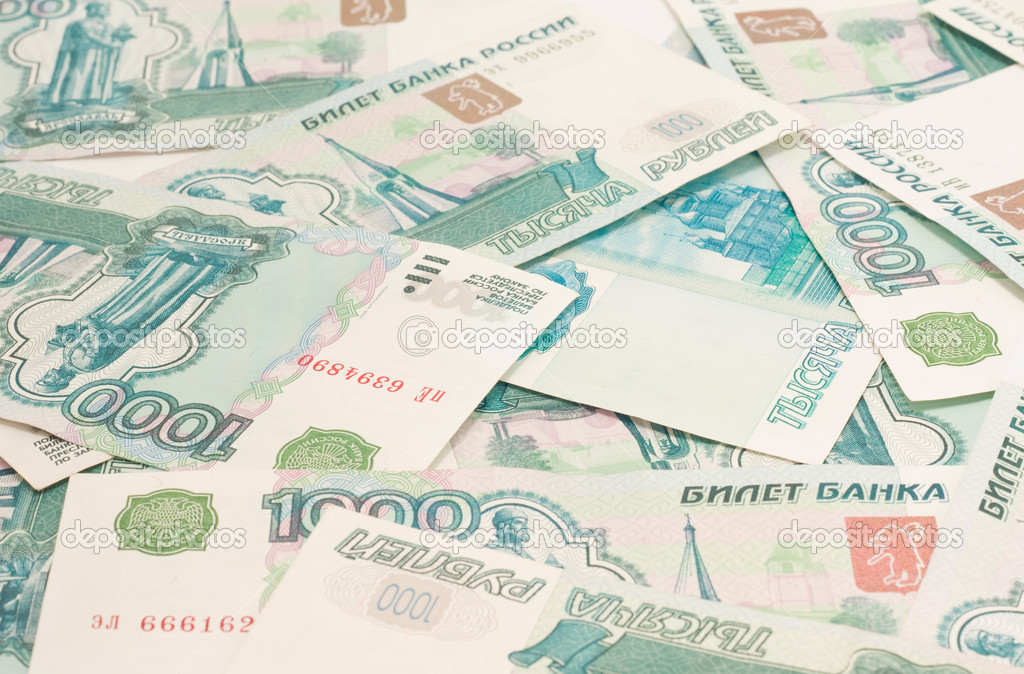 Close-up of russian roubles - Money of the world  Stock Photo #2917790