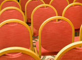 Rows of red Chairs in the conference hall — Stock Photo