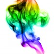 Stock Photo: Colored with gradient fume abstract on white